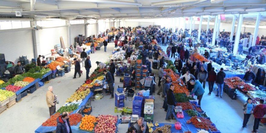 Ereğli'de kapalı pazar faaliyete geçti