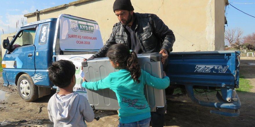 Suriye'ye kış yardımları sürüyor