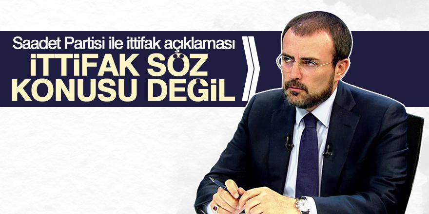 AKP: İttifak söz konusu değil