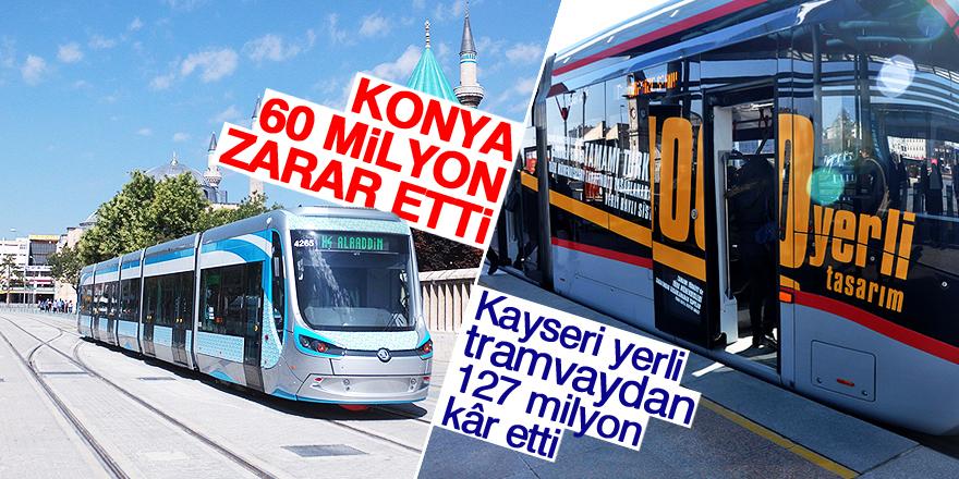 Kayseri yerli tramvaydan 127 milyon kâr etti
