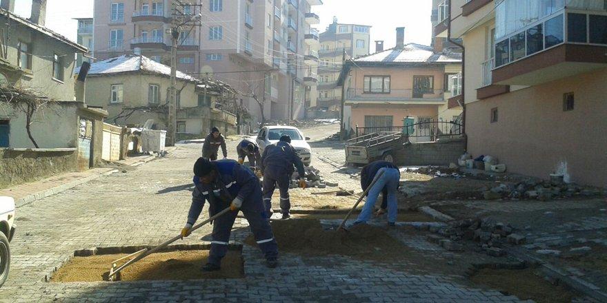Beyşehir'de yol yapım çalışmaları