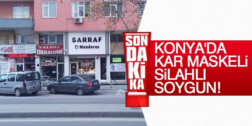 Konya'da kar maskeli, silahlı soygun!