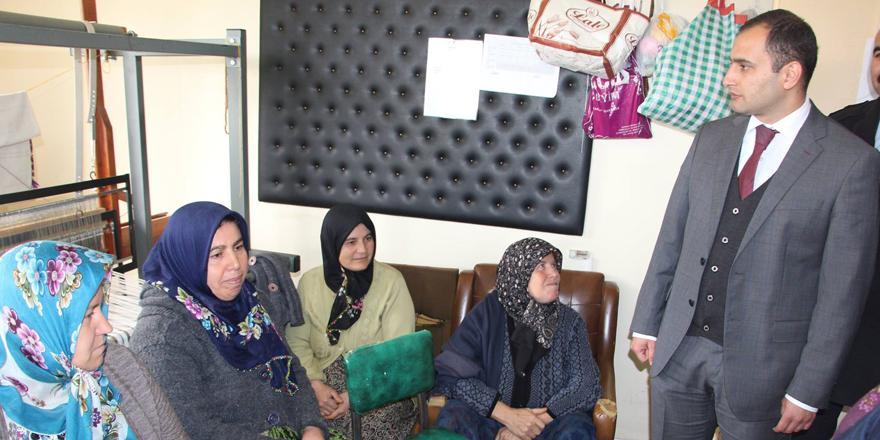 Kaymakam Abbasoğlu kurs merkezini ziyaret eti