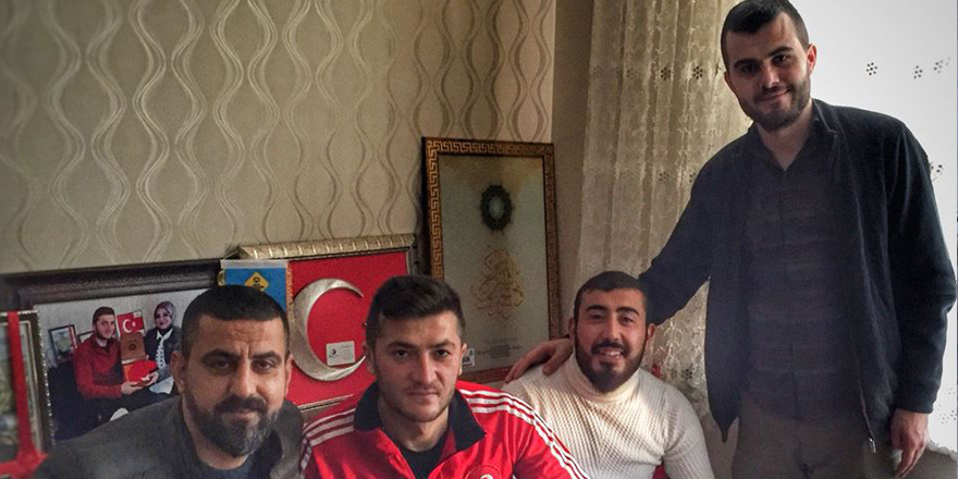 Nalçacılılar Afrin Gazisini evinde ziyaret etti
