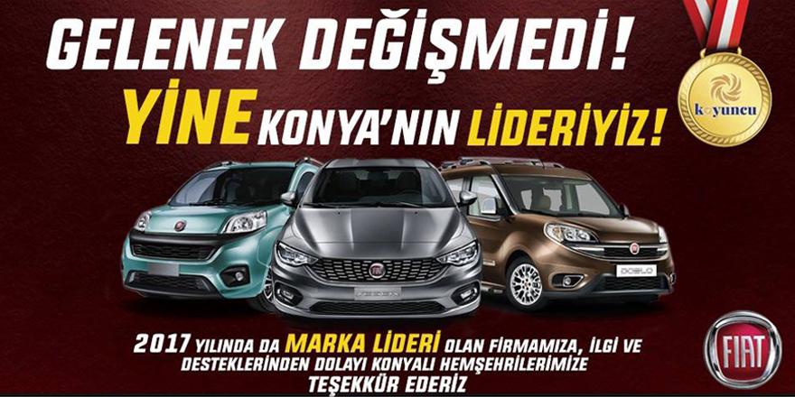 Fiat, Konya'nın lideri
