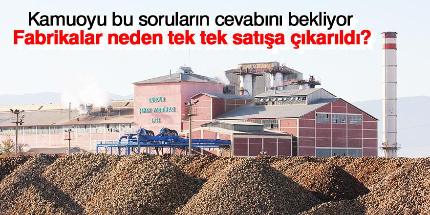 Şeker fabrikaları kime satılacak?