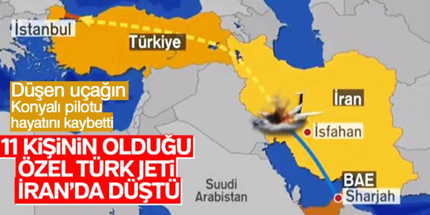 Düşen uçağın Konyalı pilotu hayatını kaybetti
