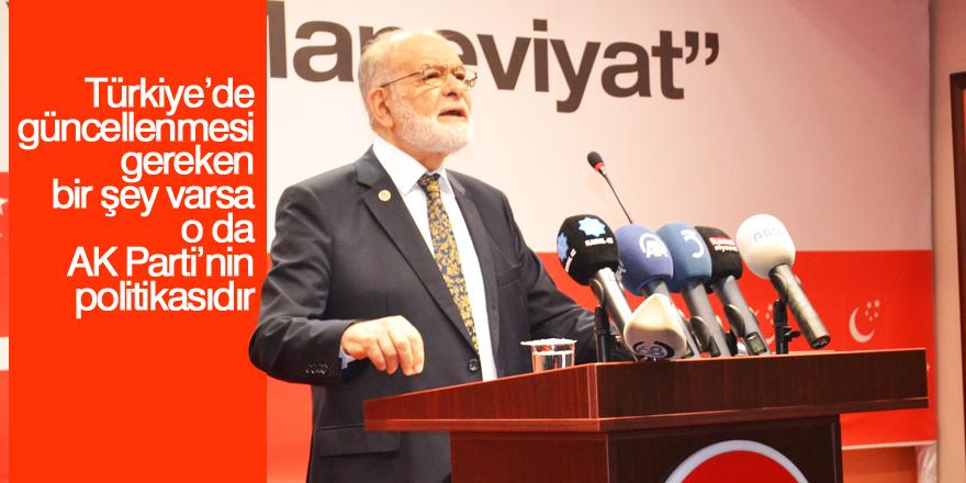 Saadet Partisi Lideri Karamollaoğlu: Türkiye tehdit altında ile ilgili görsel sonucu
