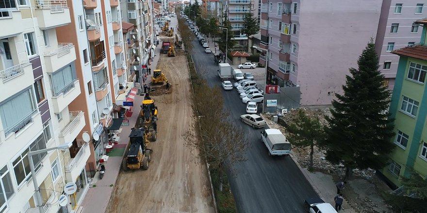 Beyşehir Belediyesi'nden sıcak asfalt atağı