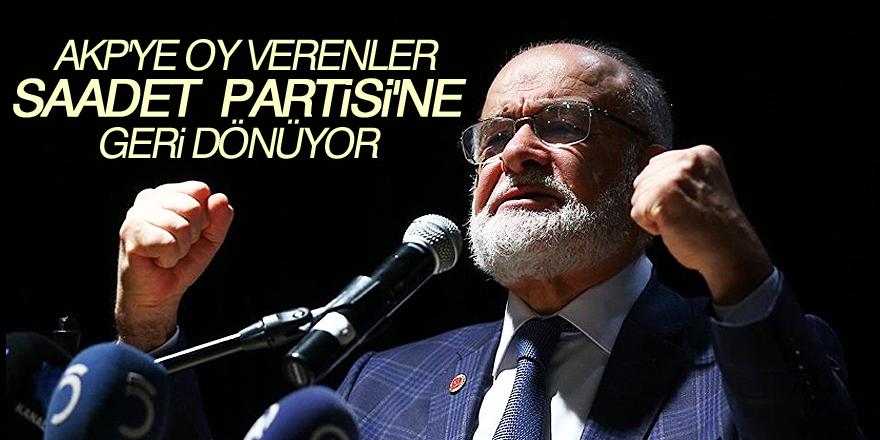 AKP tabanı Saadet Partisi'ni tercih ediyor!