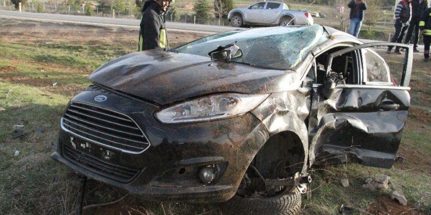 Kontrolden çıkan otomobil devrildi: 1 yaralı