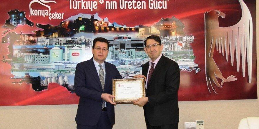 Konya Şeker'e Maliye Bakanlığından ödül