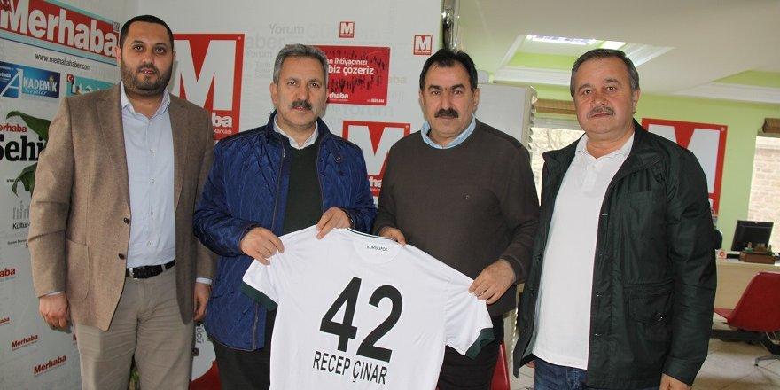 Konyaspor'dan Çınar'a hayırlı olsun ziyareti