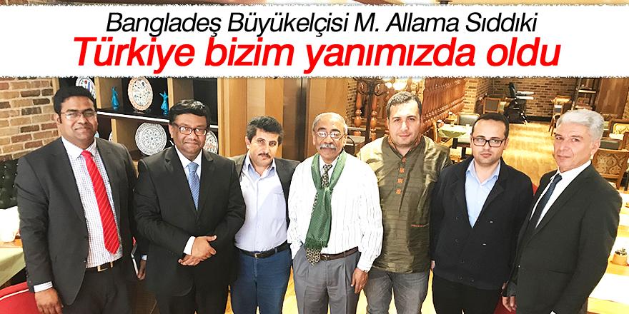 Türkiye bizim yanımızda oldu