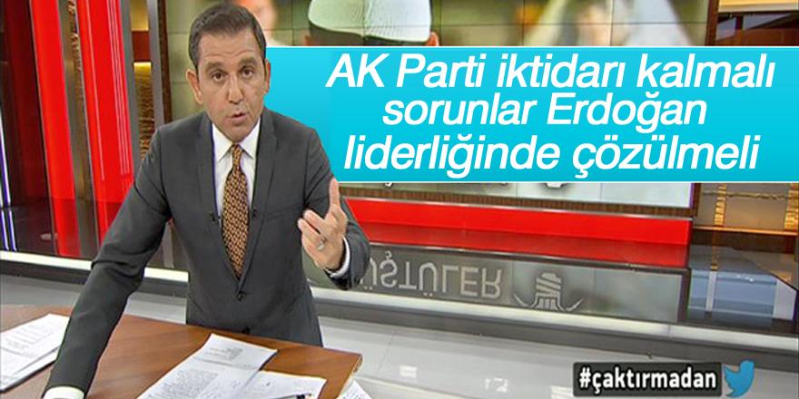 Fatih Portakal: AK Parti iktidarı kalmalı
