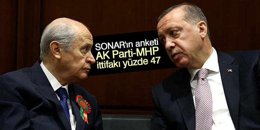 SONAR'dan seçim anketi: AK Parti-MHP ittifakı yüzde 47