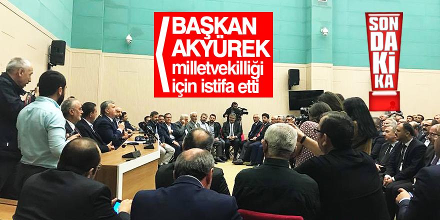 Konya Büyükşehir Belediye Başkanı milletvekili aday adaylığı için istifa etti
