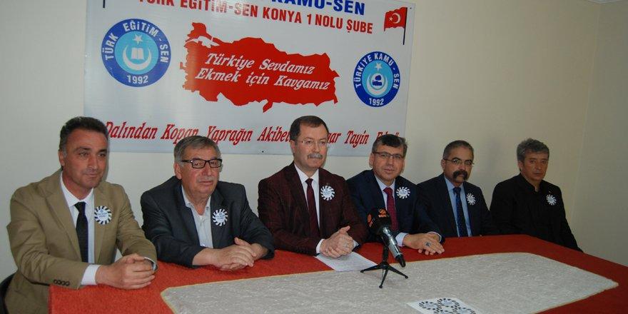 Türk Eğitim-Sen'den 'Öğretmenime Dokunma' eylemi