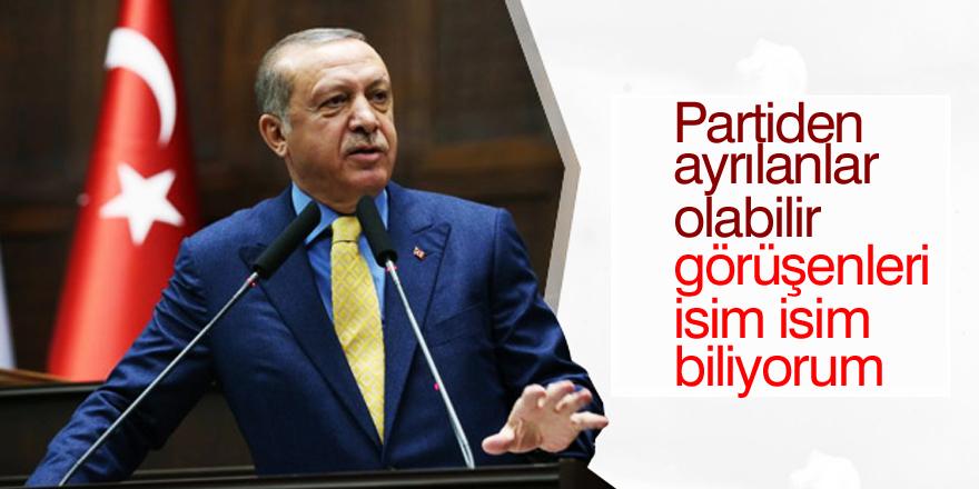 Erdoğan: Partiden ayrılanlar olabilir