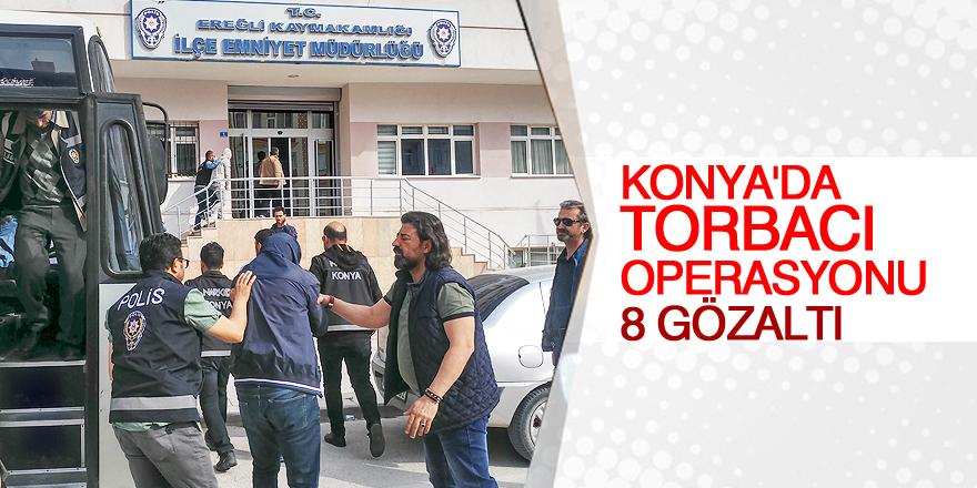 Konya'da sokak satıcılarına operasyon: 8 gözaltı
