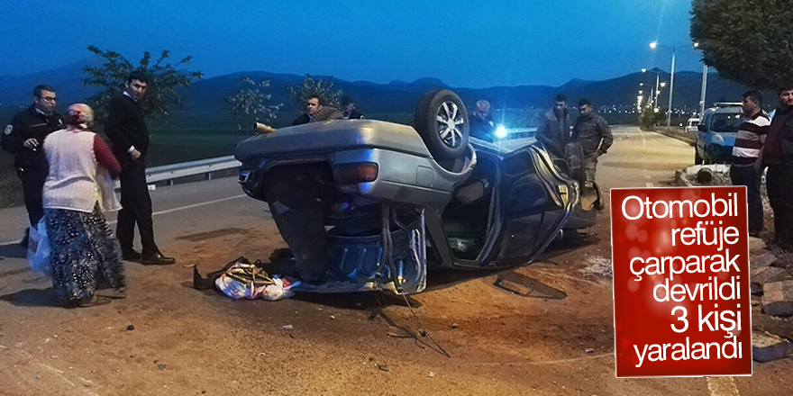 Konya'da otomobil devrildi: 3 yaralı