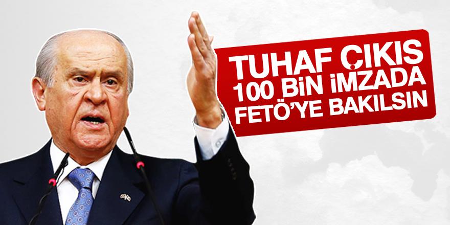Bahçeli'den 100 bin aday için FETÖ sorusu