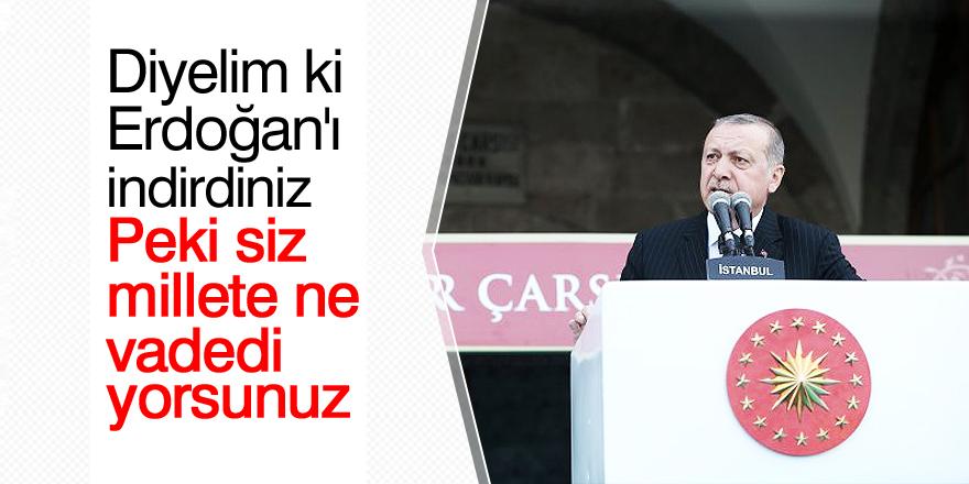 Cumhurbaşkanı Erdoğan: Peki siz ne vadediyorsunuz