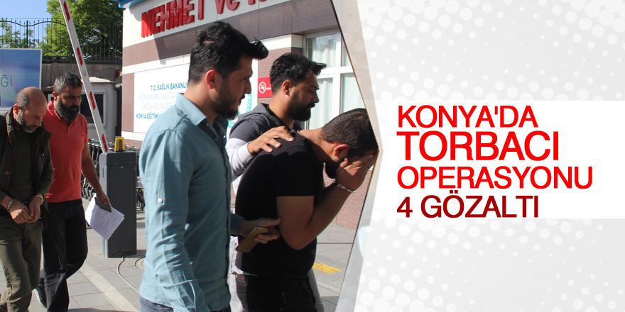 Konya'da uyuşturucu operasyonu: 4 gözaltı