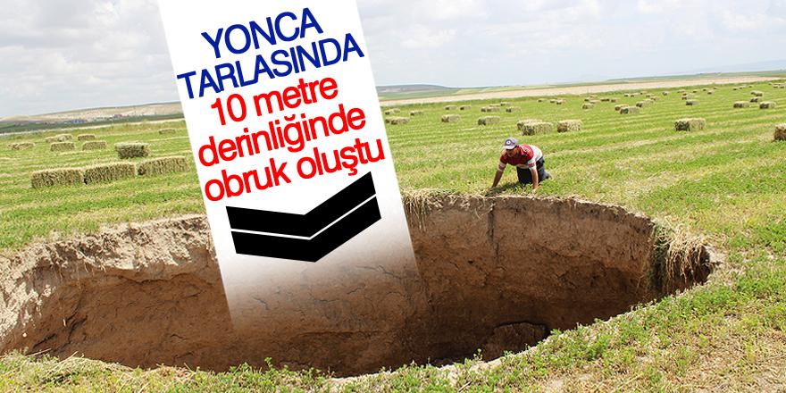 Konya'da obruk oluştu