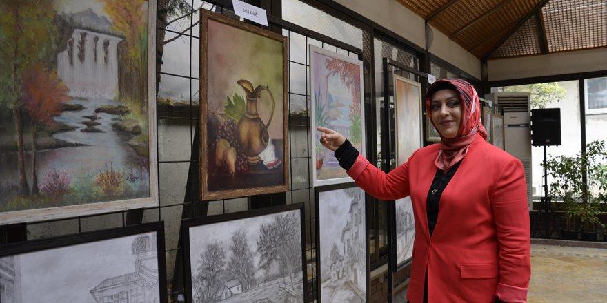 Ata Sanat Atölyesi Resim Sergisi kapıları açtı