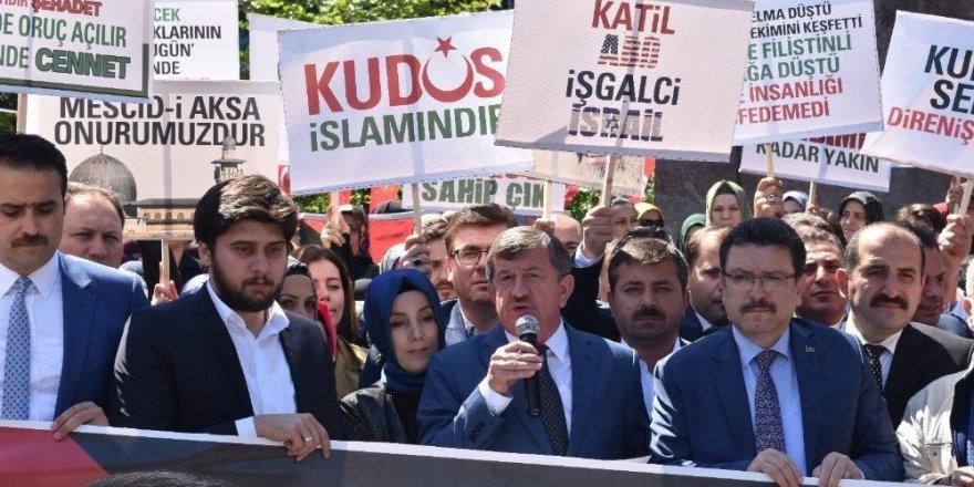 Trabzon'da ABD ve İsrail'e tepki