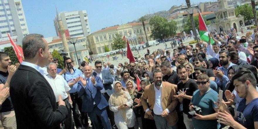 İzmir'deki vatandaşlar Kudüs için tek yürek
