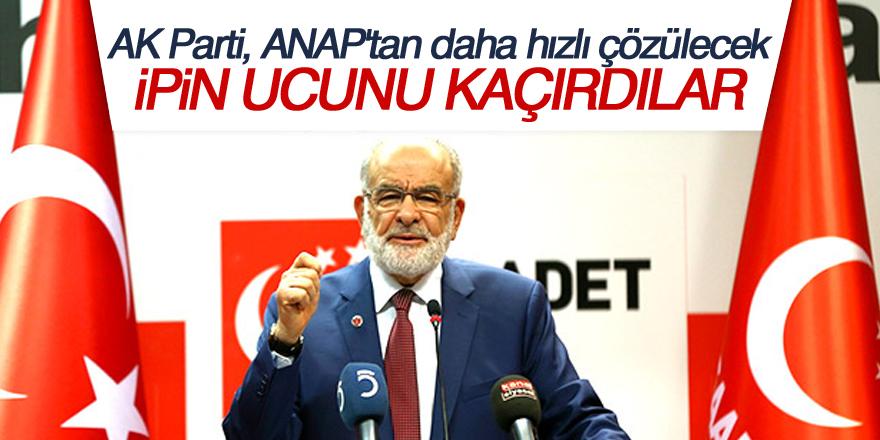 Karamollaoğlu: AK Parti, ANAP'tan daha hızlı çözülecek, ipin ucunu kaçırdılar
