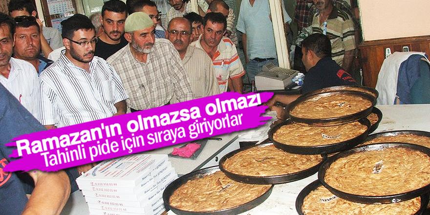 Ramazan'da tahinli pideye yoğun ilgi