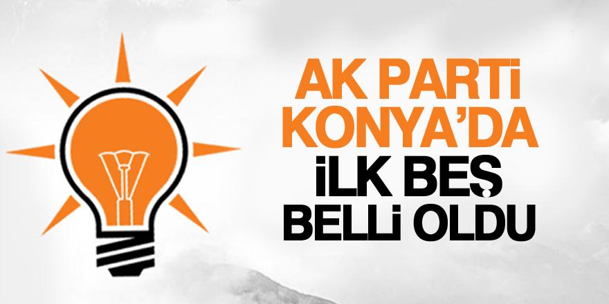 AK Parti'nin ilk 5 ismi belli oldu