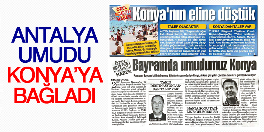 Antalya umudu Konya'ya bağladı