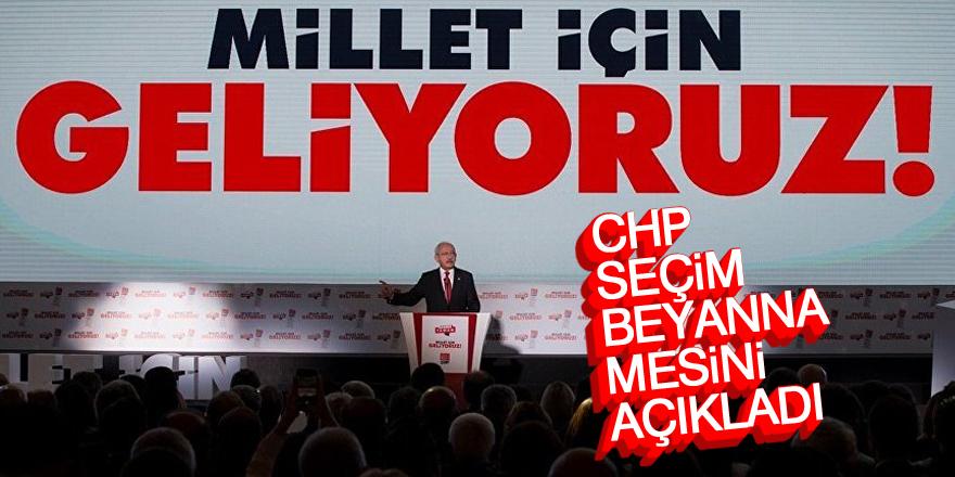 CHP, seçim beyannamesini açıkladı
