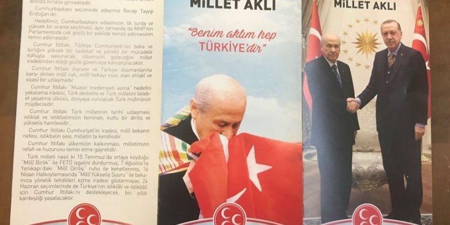 MHP'nin seçim broşüründe Bahçeli ve Erdoğan yan yana