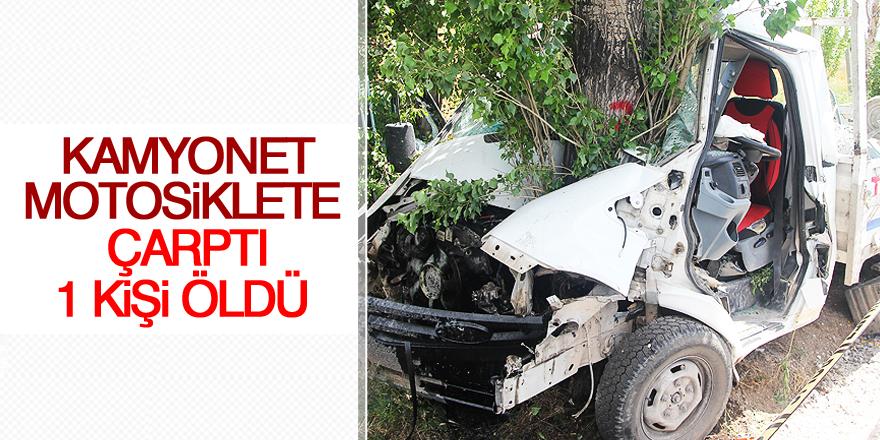 Konya'da kamyonet motosiklete çarptı: 1 ölü, 4 yaralı