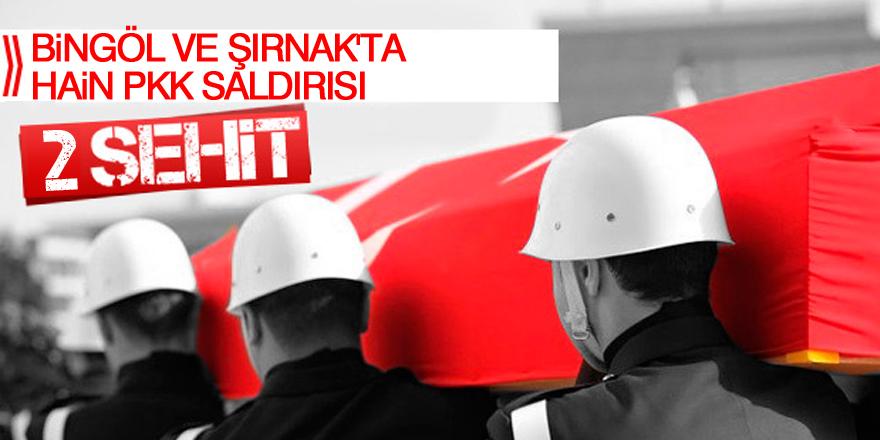 Bingöl ve Şırnak'ta hain PKK saldırısı