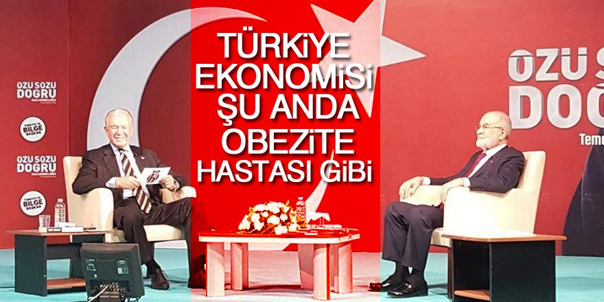 Temel Karamollaoğlu: Türkiye ekonomisi şu anda obezite hastası gibi