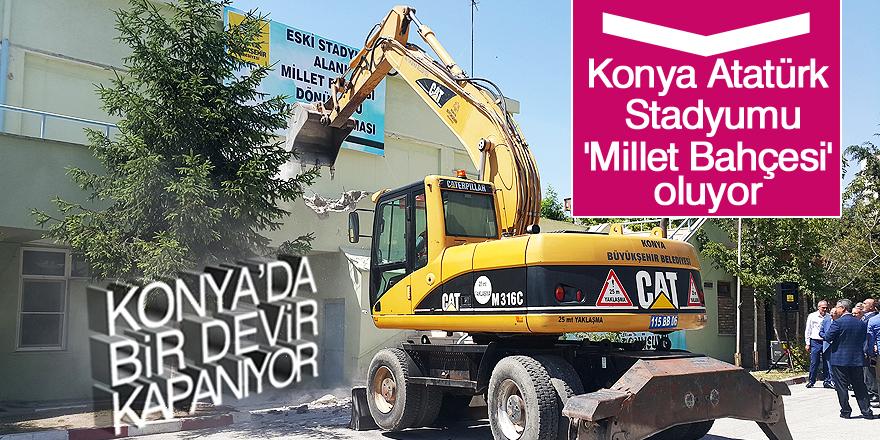Konya'da Millet Bahçesi dönüşüm çalışmaları başladı