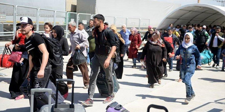 Bayram için ülkesine giden Suriyelilerin sayısı 50 bine ulaştı