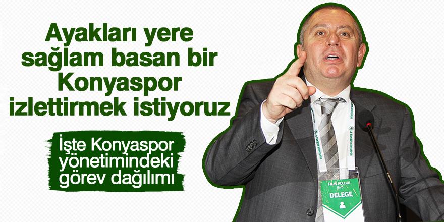 Konyaspor'da görev dağılımı yapıldı!