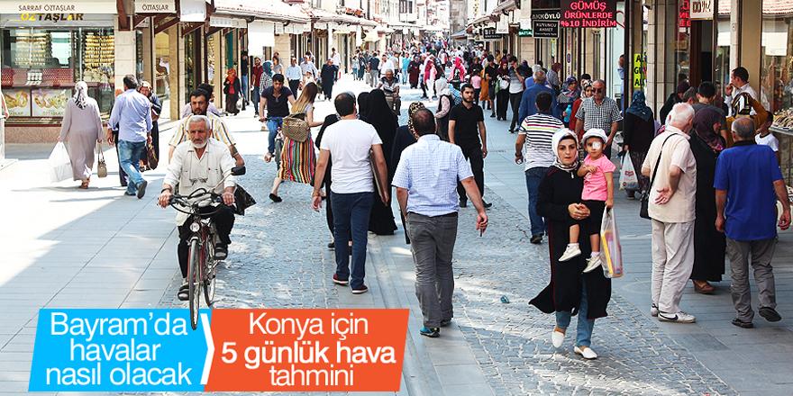 Konya'da bayramda hava durumu nasıl olacak?