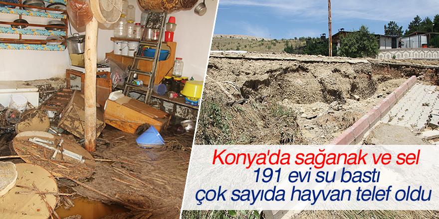 Konya'da sağanak ve sel