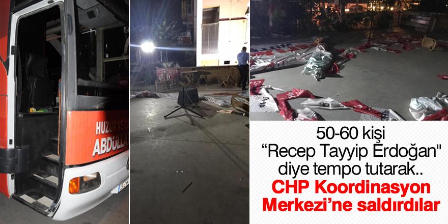 CHP Koordinasyon Merkezi'ne saldırdılar