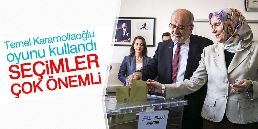 Cumhurbaşkanı adayı Temel Karamollaoğlu oyunu kullandı