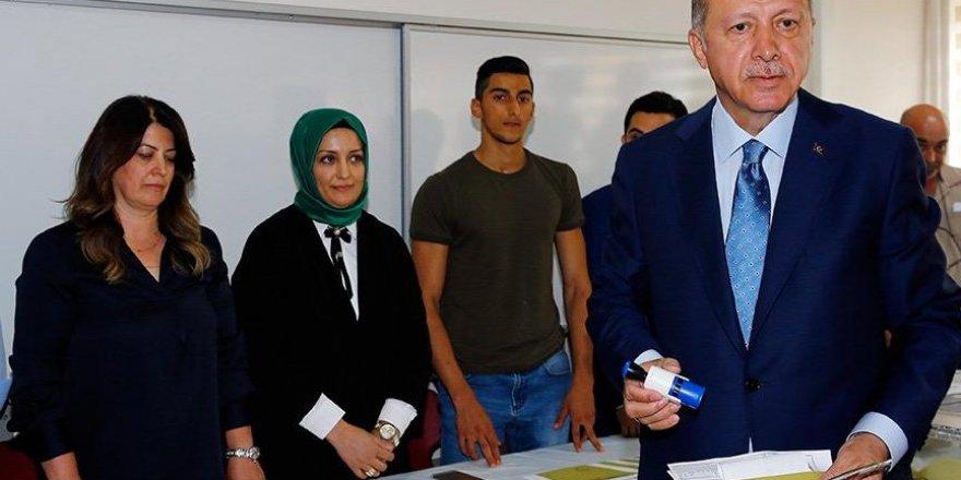 Cumhurbaşkanı Erdoğan, oy kullandığı sandığın sonuçları belli oldu