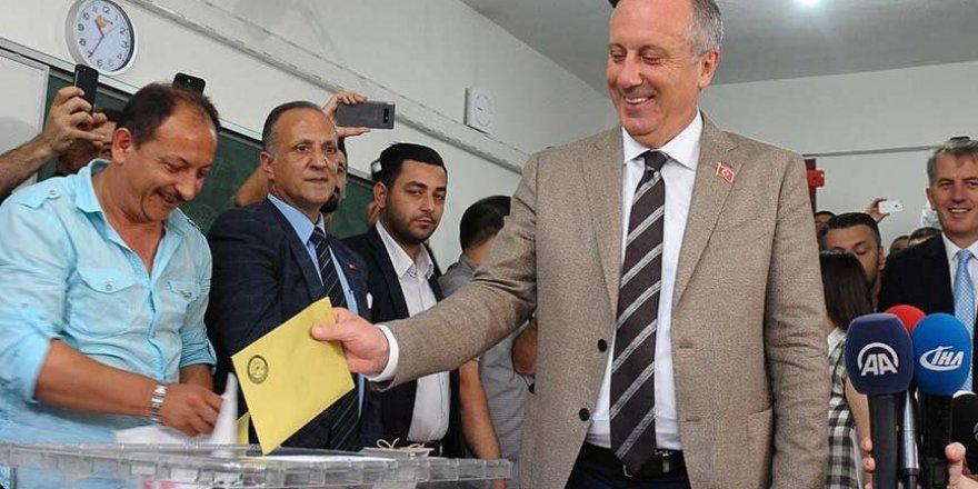 İnce'nin oy kullandığı sandıktan Erdoğan çıktı
